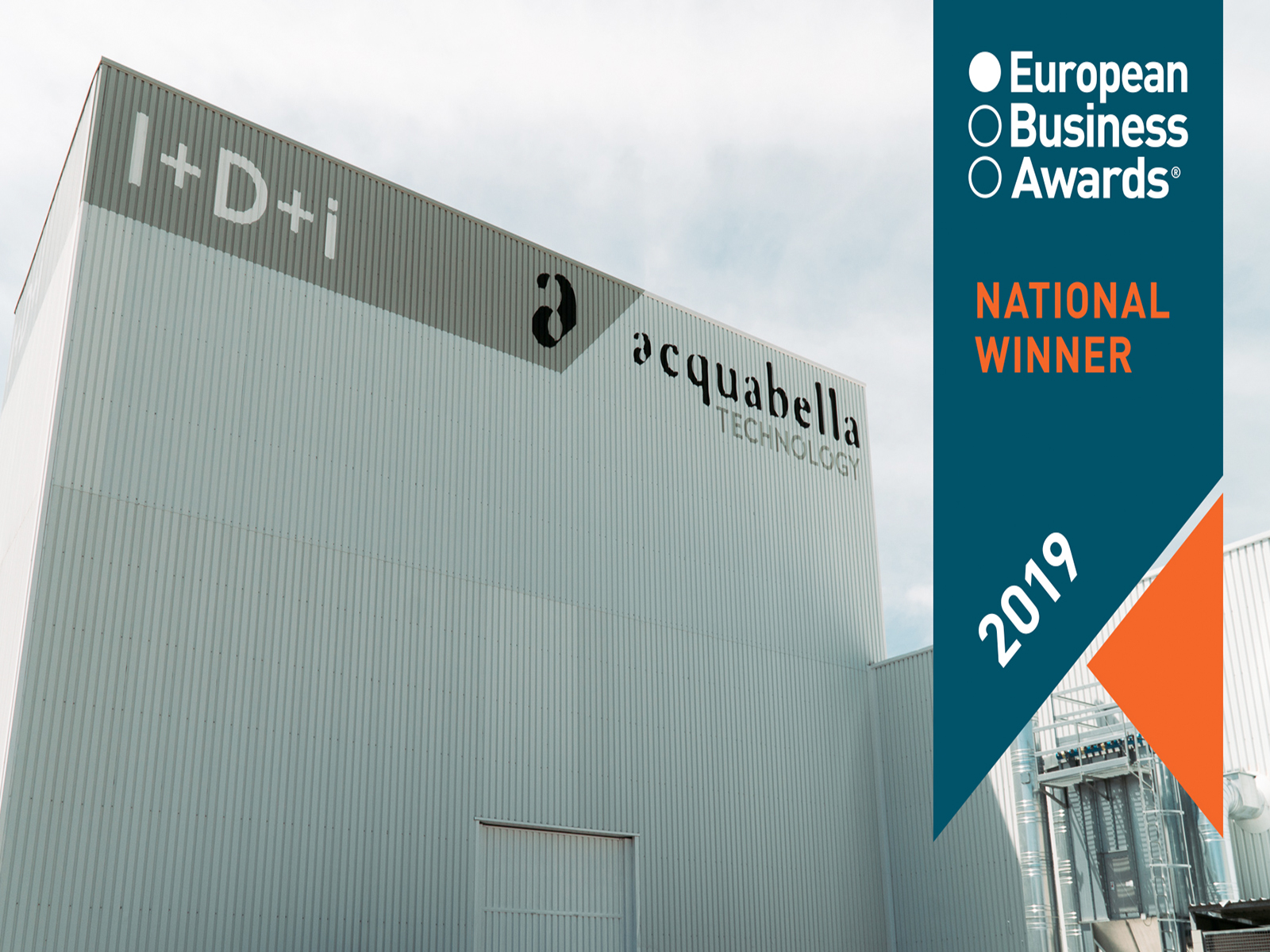 Acquabella, National Winner in the European Business Awards 2019.