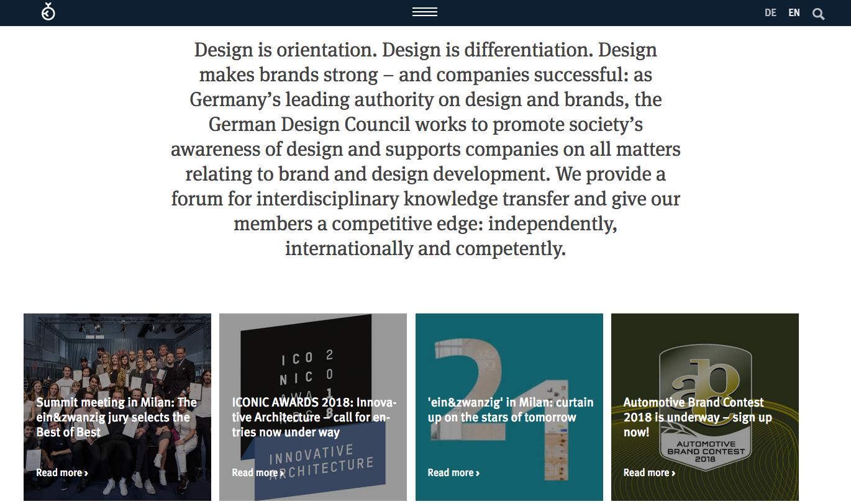 german design imagen web