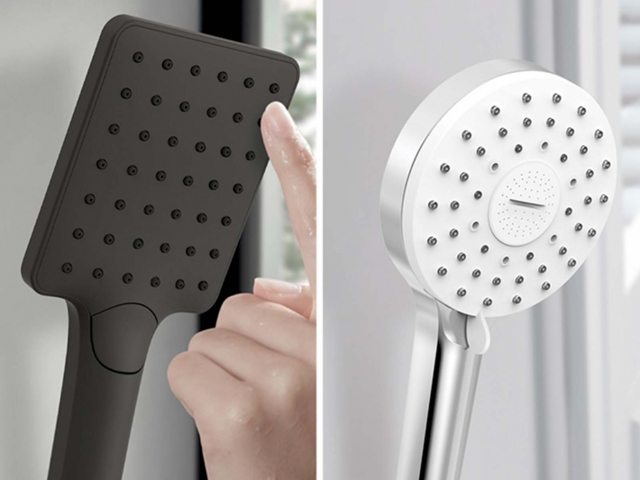 Shower handles by Tres.