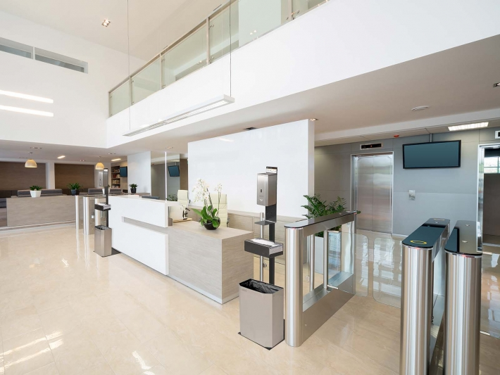 Covid didinfection stations by Mediclinics.