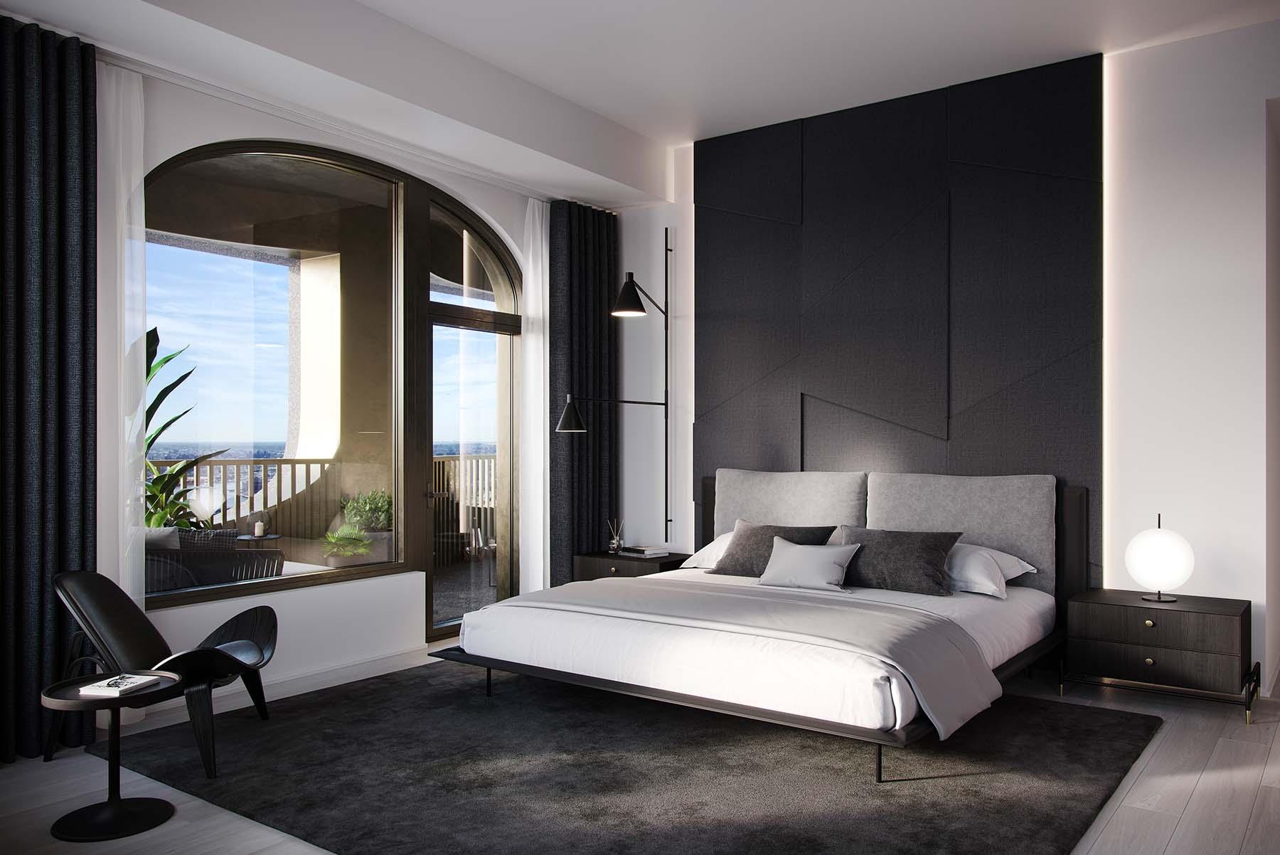 Imagen de uno de los dormitorios.