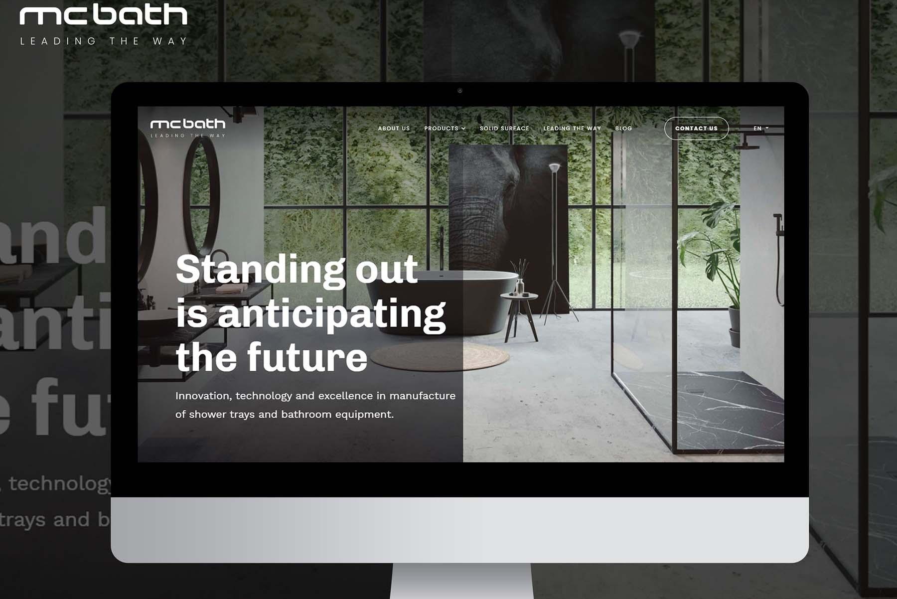 Nueva web y estrategia digital de MCBath.