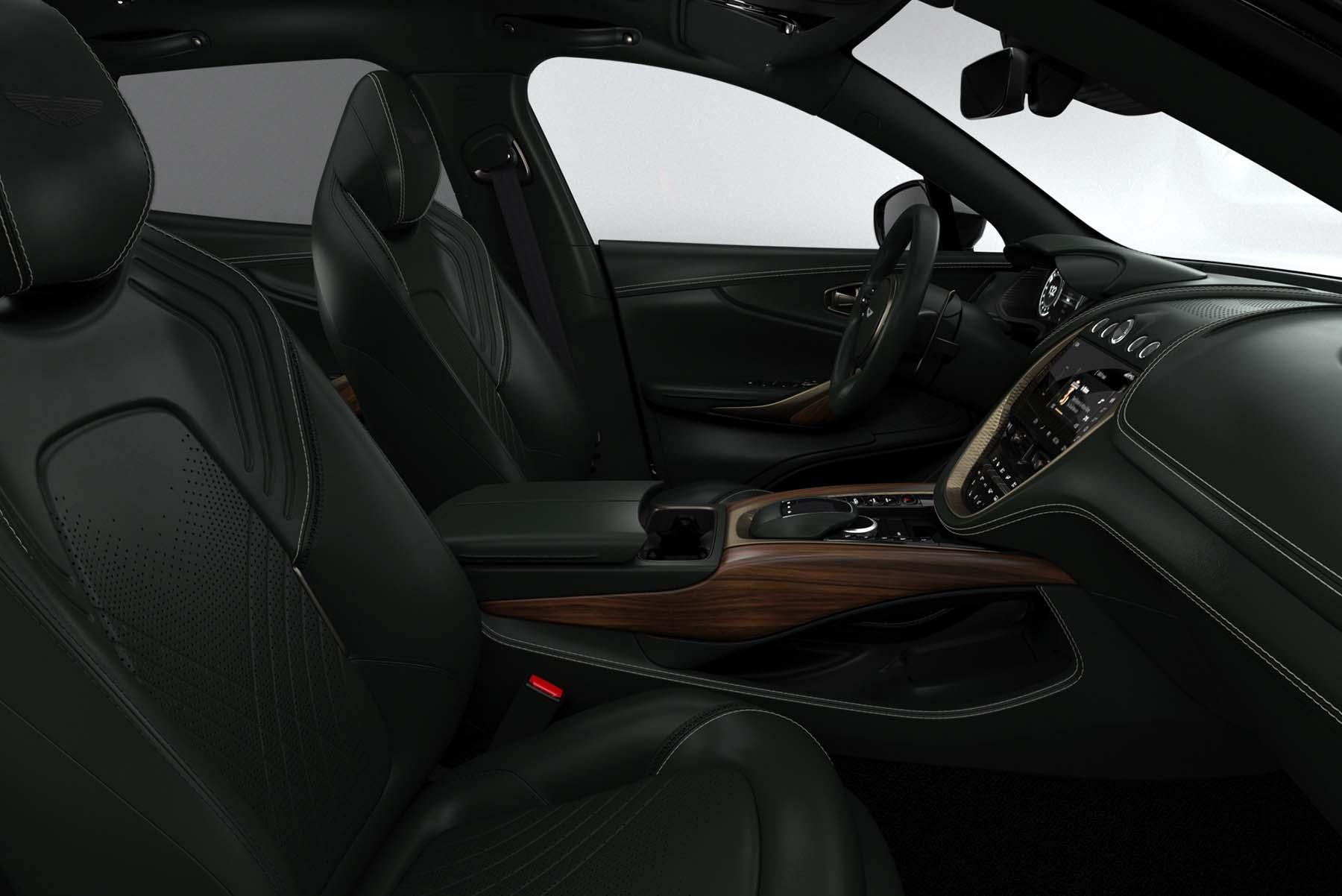 Interior del Aston Martin DBX 130 William Adjaye Special Edition.