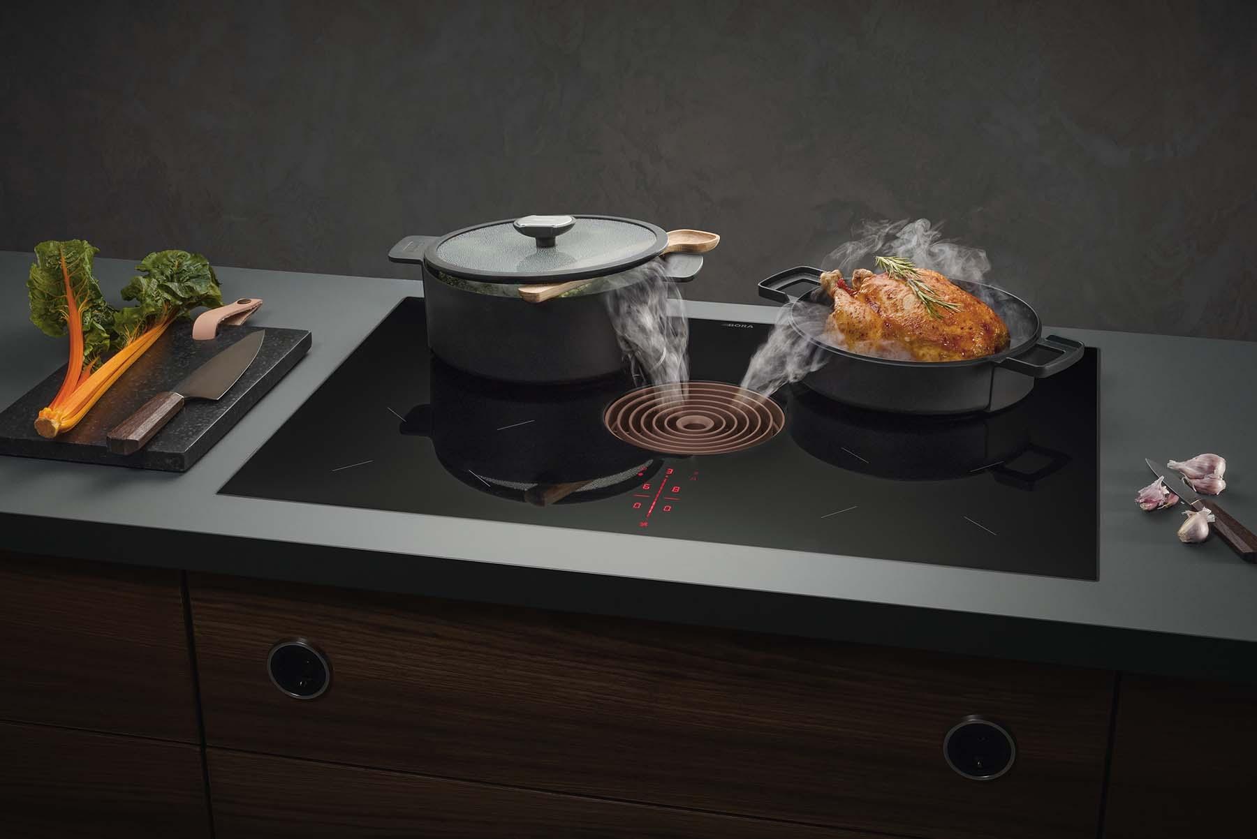 Una cocina sin ruido, olores ni obstáculos visuales con BORA.