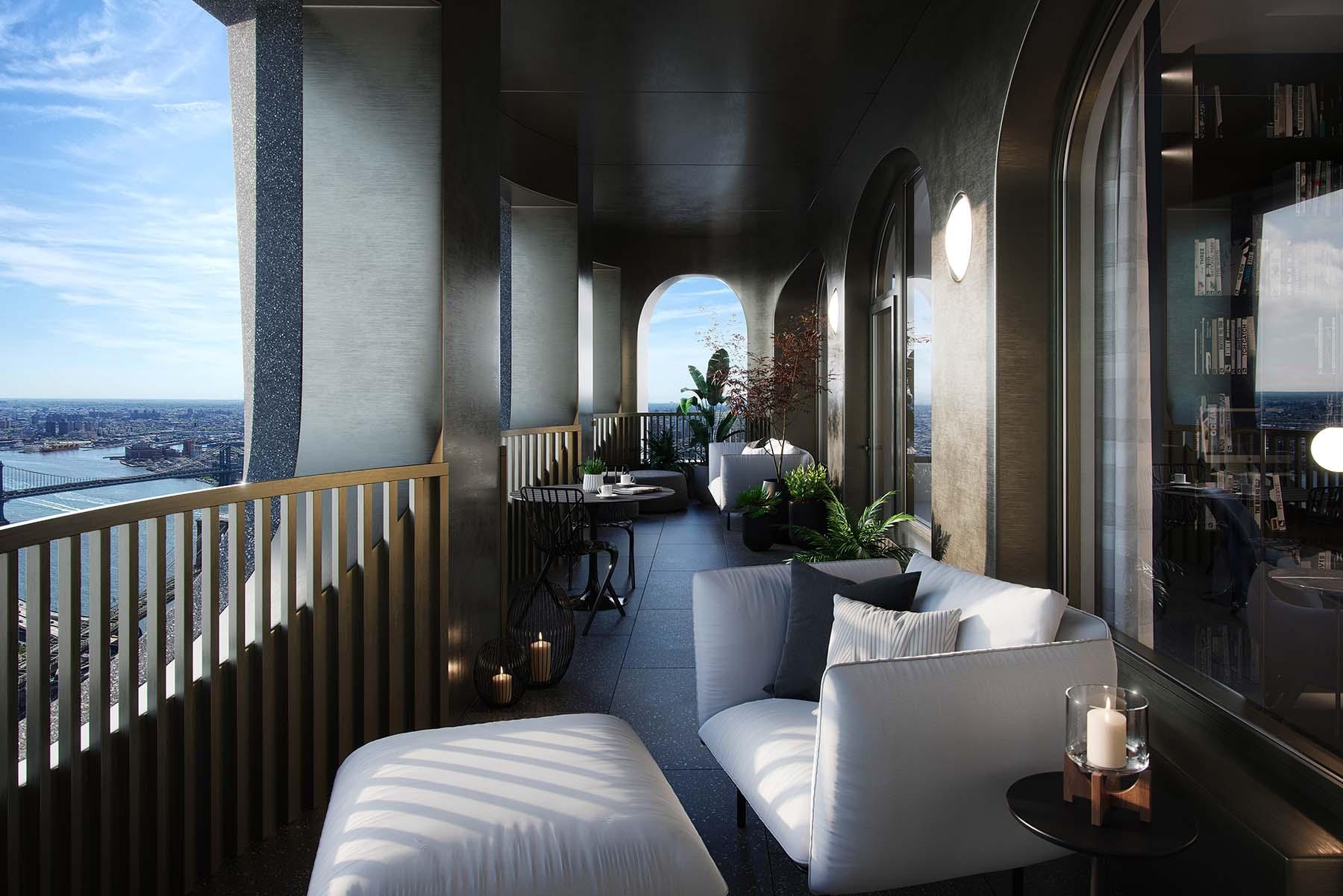 Las viviendas cuentan con unas vistas espectaculares de la ciudad de Nueva York.