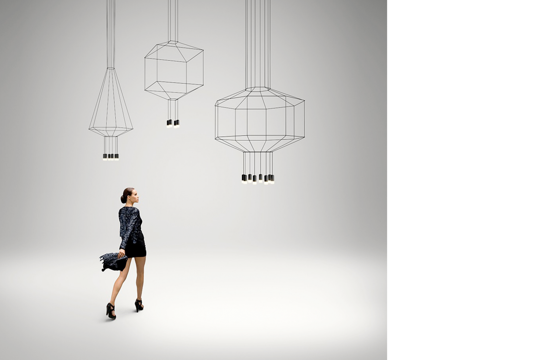 Lámpara Wireflow de Vibia.