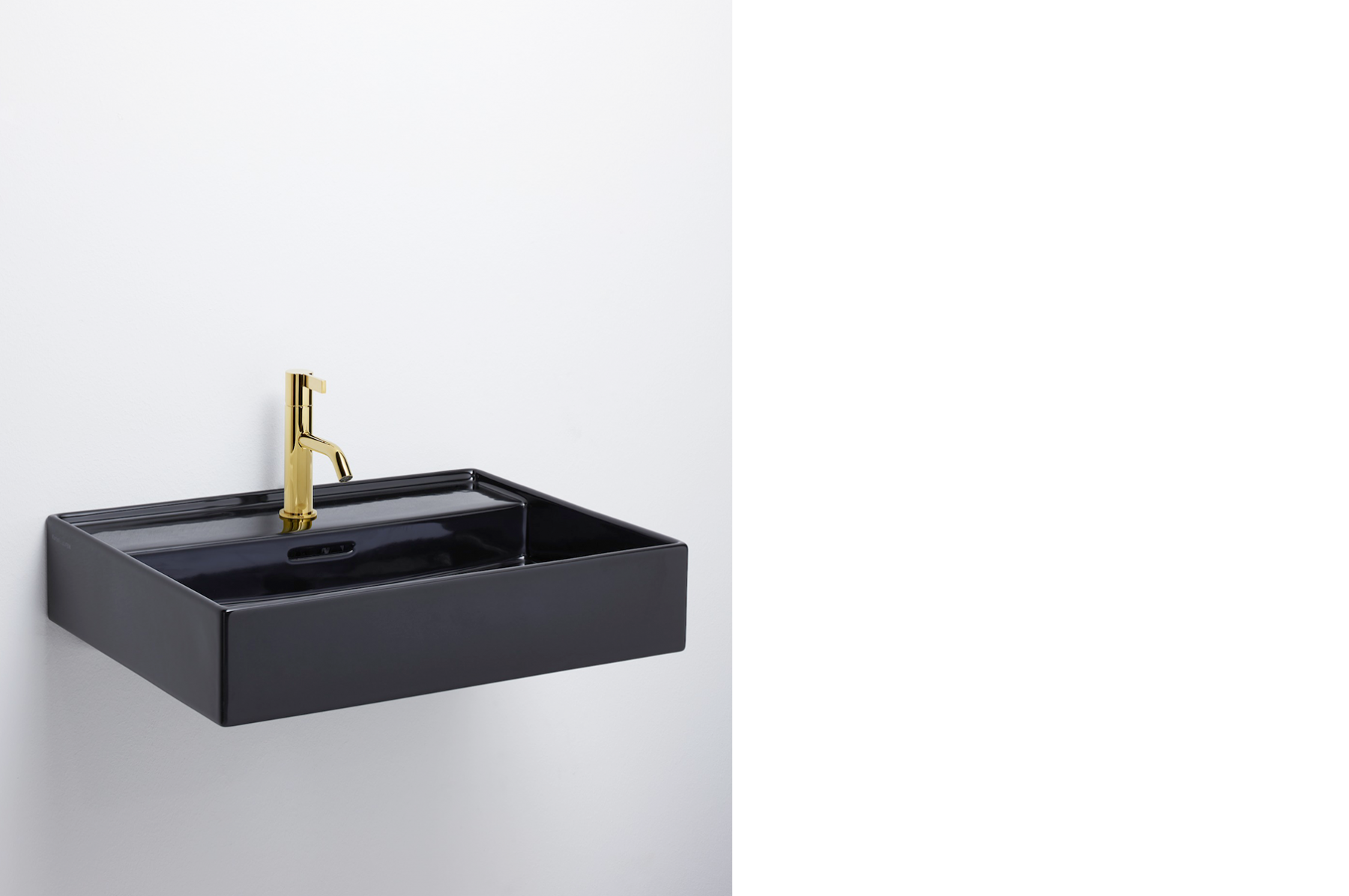 Kartell by Laufen. Black and PVD Gold.